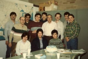 Dr. Samora with Mexican American Graduate Studies seminar students, Notre Dame University, 1983-1984