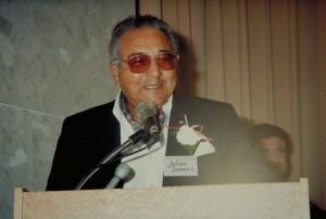 Julian Samora, inauguration ceremonies of the Julian Samora Research Institute, Michigan State University, 1985